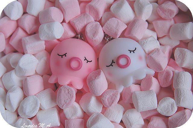 Sweet Dreams by itslour, via Flickr. Pink, marshmallows, takochu