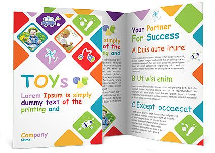 Toys Brochure Template Brochure Pinterest Brochures - sample preschool brochure