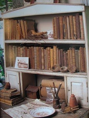 Cloth covered books, love the look!