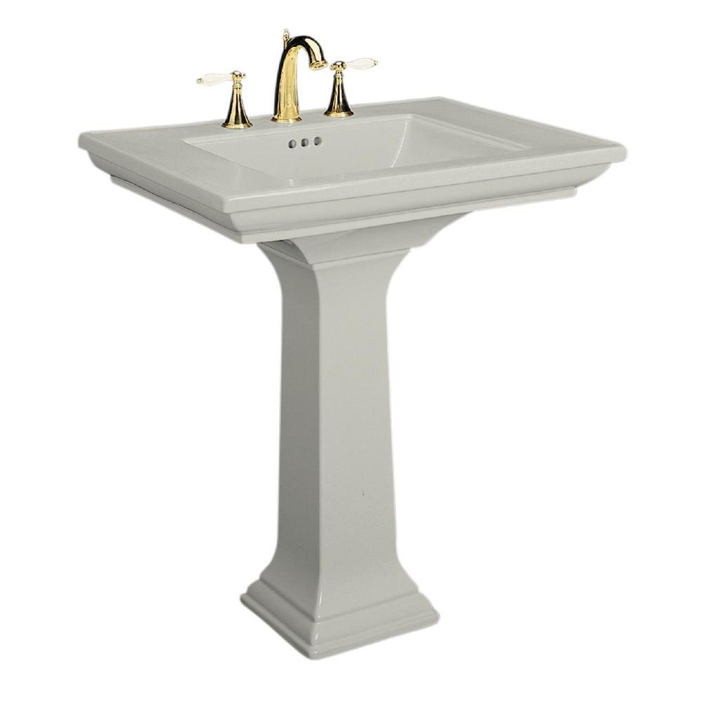 Kohler Memoirs Ceramic Pedestal Combo Bathroom Sink In Ice Grey