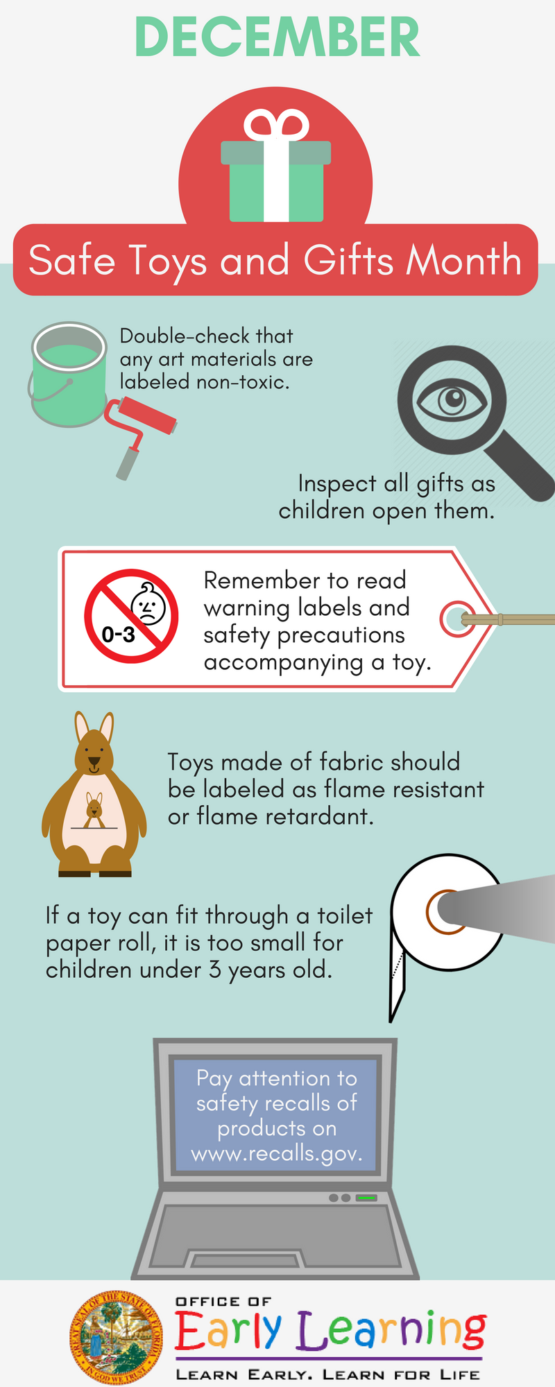 December is Safe Toys and Gifts Month! Keep these tips in