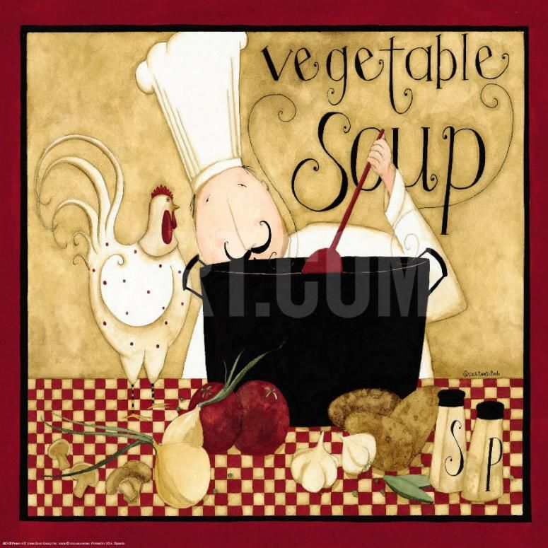 chef.quenalbertini: Kitchen Favorites - Vegetable Soup Art Print by Dan Dipaolo at Art.com