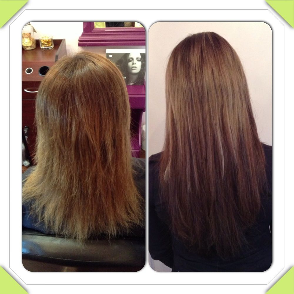 Before And After 16 Great Lengths Hair Extensions By The Little