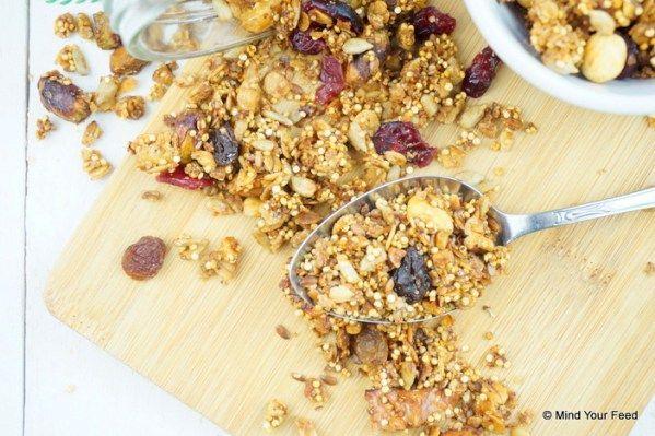 Granola met quinoa – glutenvrij