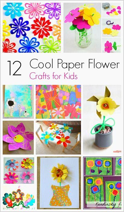 12 Cool Paper Flower Craft For Kids Flower Crafts Kids Flower