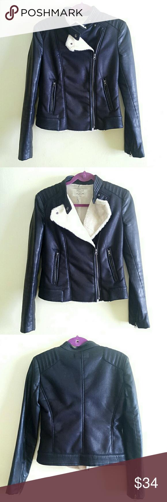 Zara Faux Fur Shearling Leather Moto Biker Jacket Gorgeous Faux Shearling Suede Zara Trafaluc Outerwear Jacket H Outerwear Jackets Leather Jacket Zara Jackets [ 1740 x 580 Pixel ]