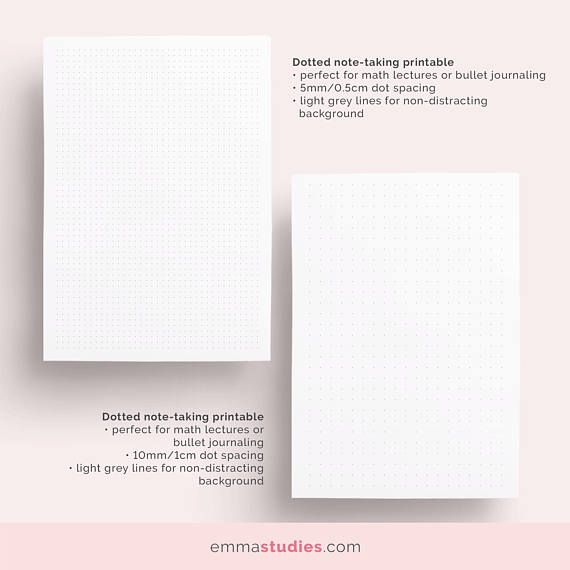 Student Note Taking Template Printable Pack A4, A5 and Letter