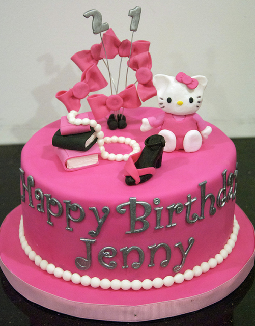 Bright pink Hello Kitty Cakes for adults.PNG Cakes ...