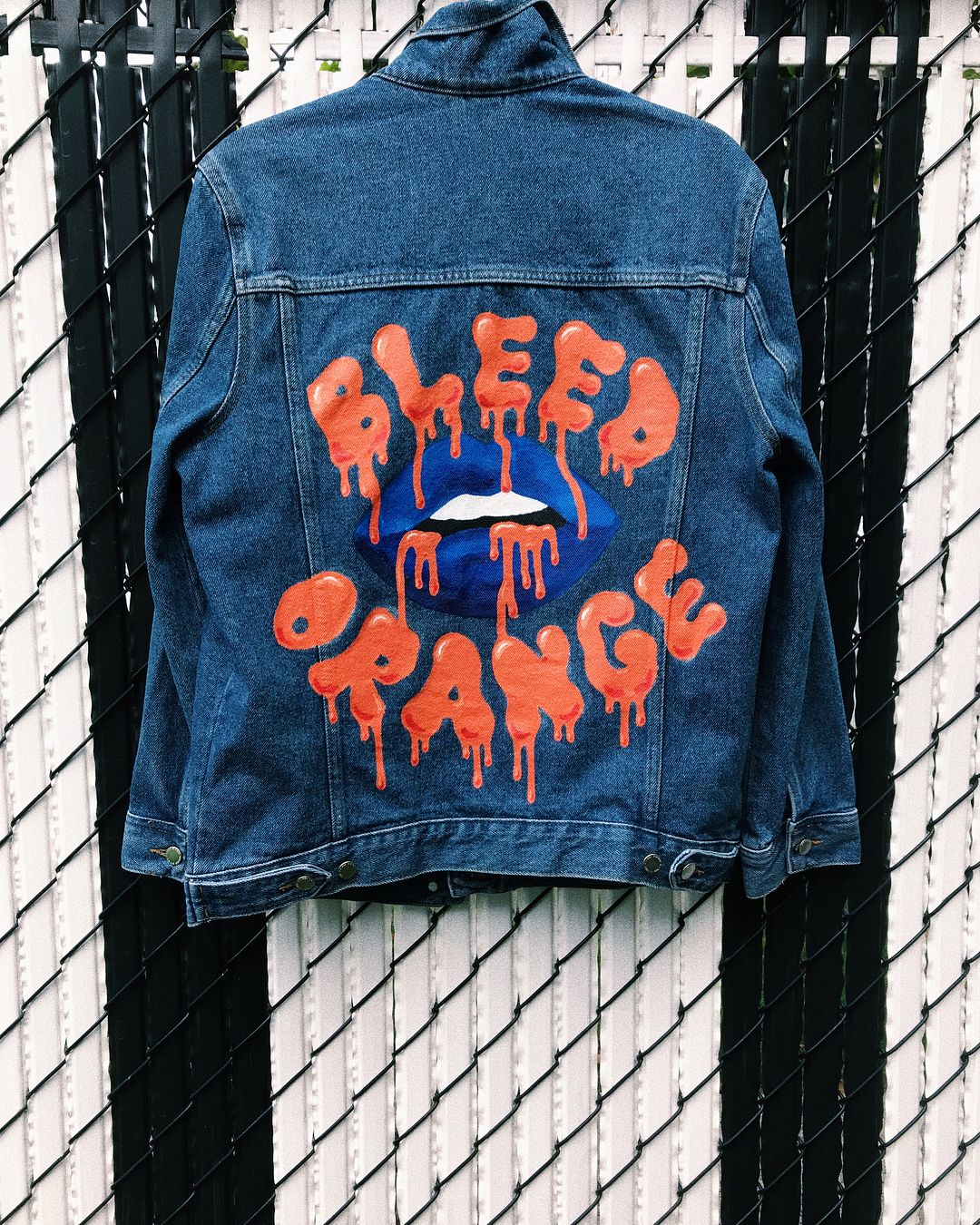 3ddcc4cdb Custom Painted Syracuse University College Denim Jackets • Let me custom  paint for you! @