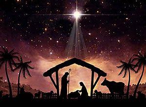 Nuestro Salvador ha nacido. Tarjeta de Navidad