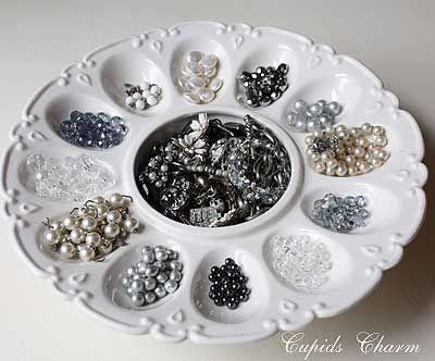 egg platter for beads/buttons
