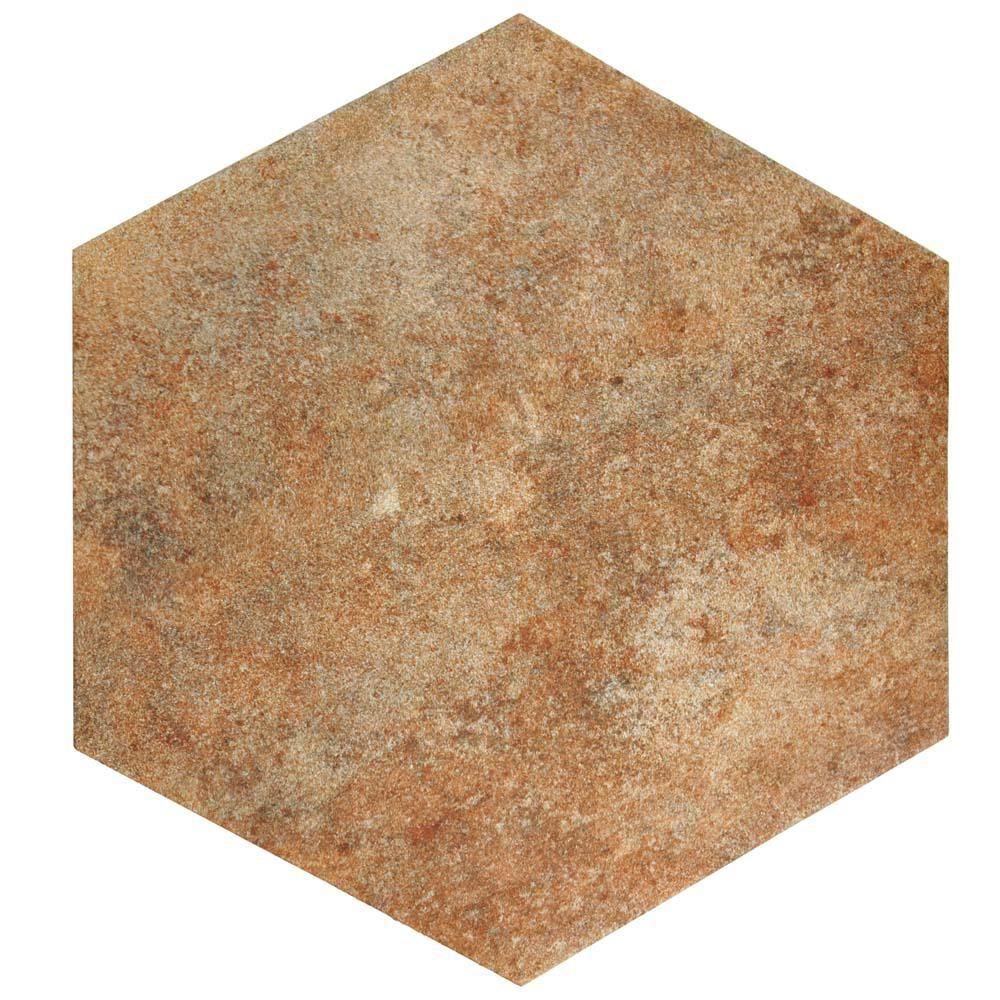 Merola Tile Americana Boston North Hex 14 In X 16 In Porcelain
