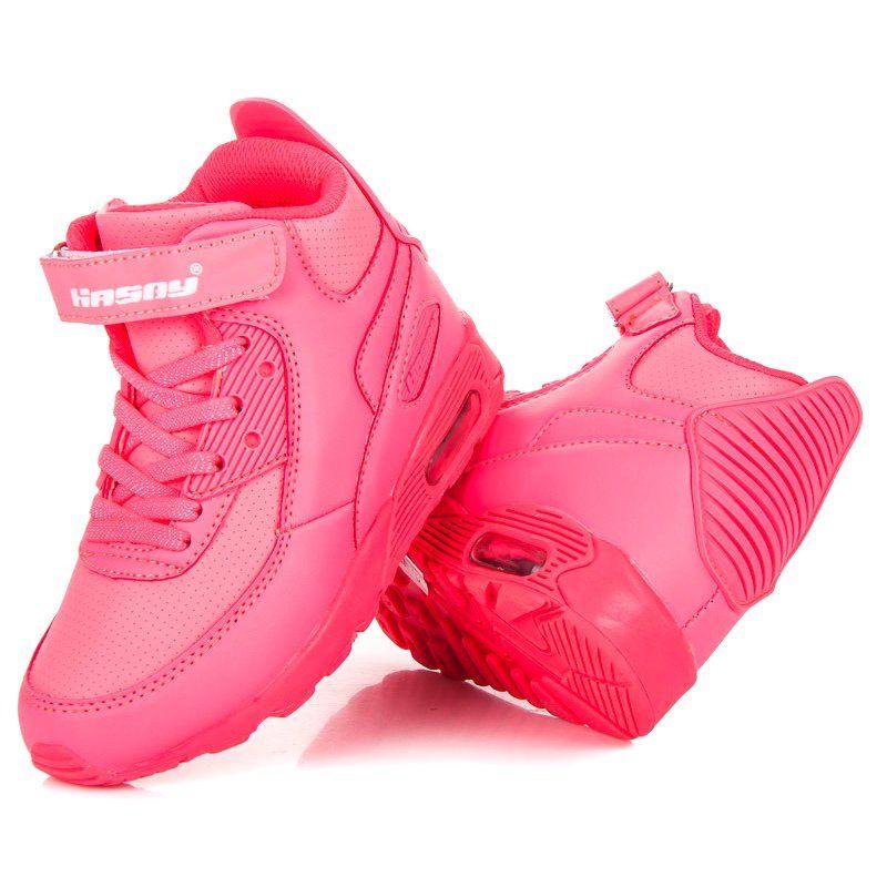 Hasby Neonowe Buty Nad Kostke Rozowe Baby Shoes Shoes Puma Sneaker