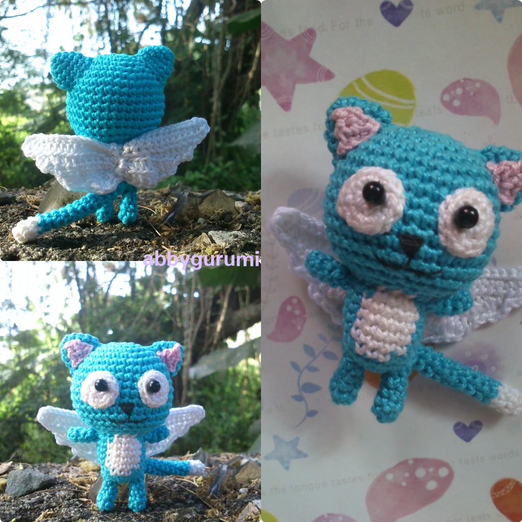 My Amigurumi Version Of Happy From The Anime Fairy Tail 3