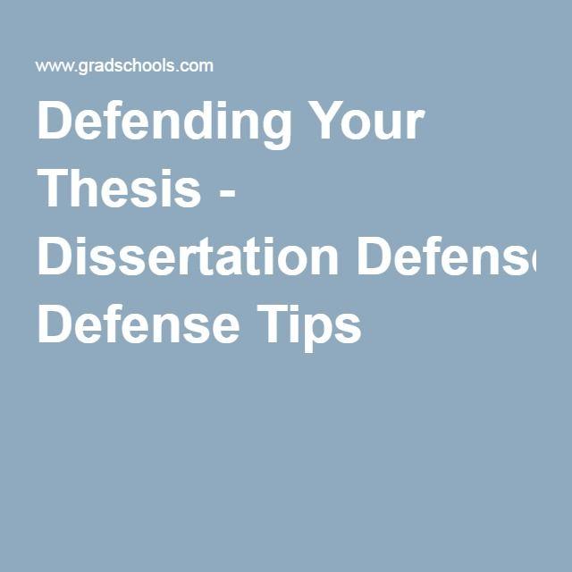 Defending thesis dissertation