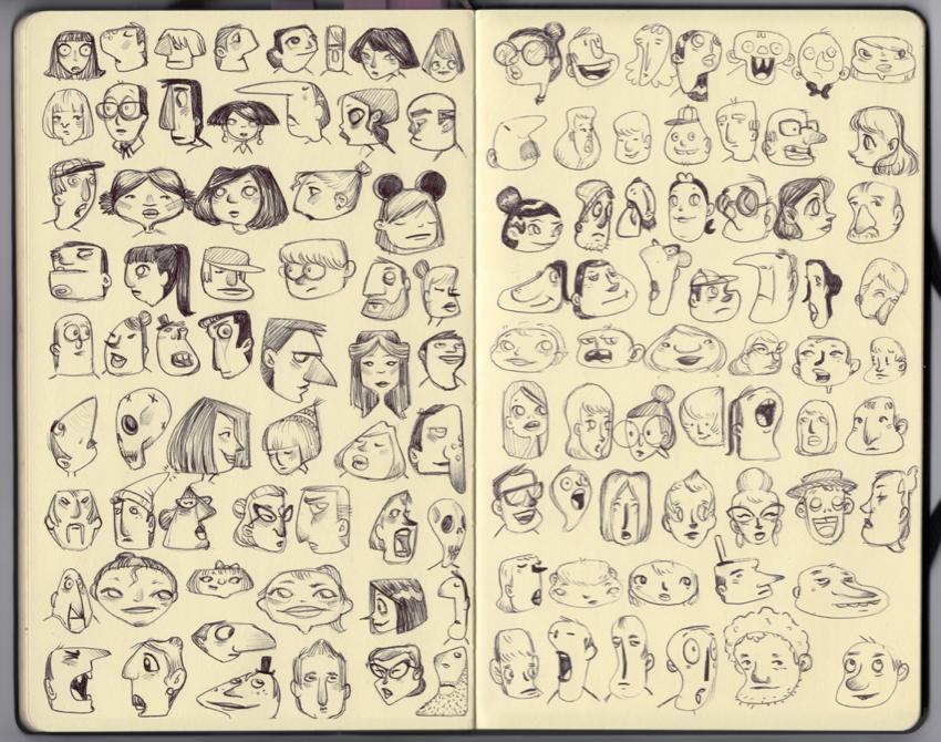 Libretas De Dibujo De Un Artista Freelance: Diseño De Personajes: Bocetos. Cap.1