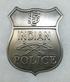US Indian Police: Every reservation had its own Indian Police Force which was empowered by the Federal Government. This type of badge was worn by Red Tomahawk, Police Sergeant, the man who killed Sitting Bull in 1890.