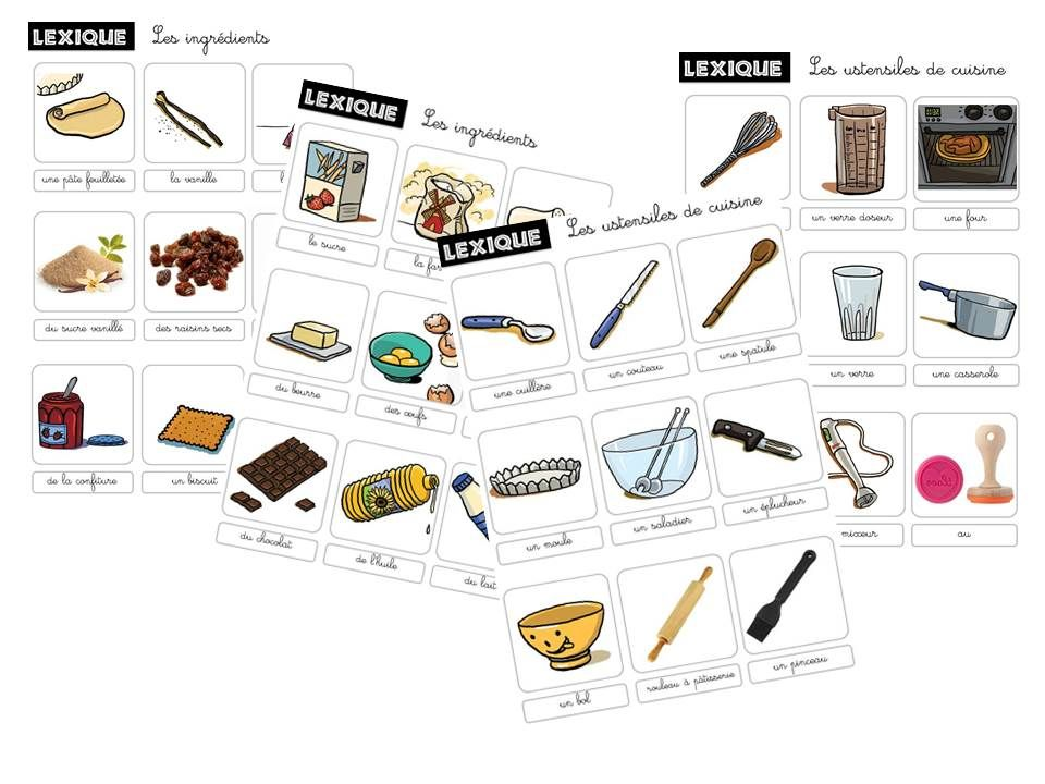 D couvrir un type d 39 crits la recette cycle 2 caracolus pinterest routine and - Vocabulaire de la cuisine ...