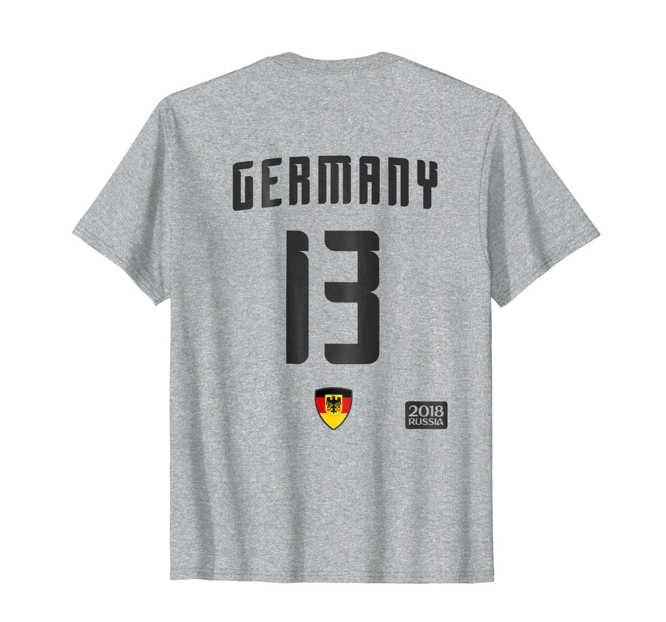 2062f023c Amazon.com: Germany 13 White Soccer T-Shirt - Football 2018 Team Jersey:  Clothing