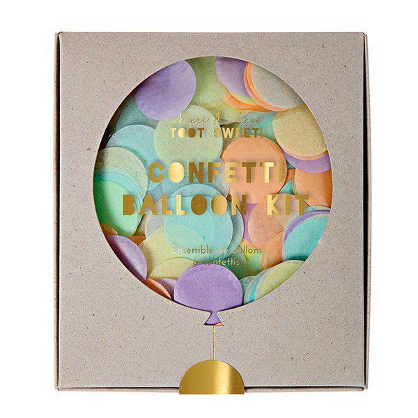 Kit DIY globos decorados confetti pastel / 8 uds. - La Fiesta de Olivia - 1