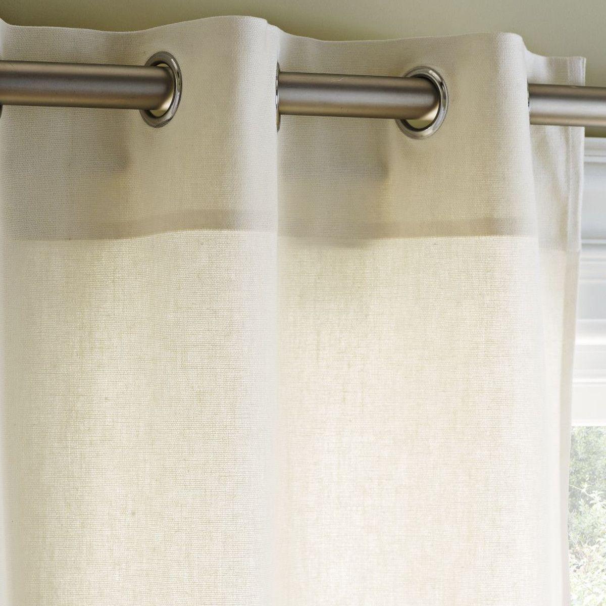 Linen Cotton Grommet Curtain - Ivory