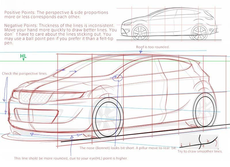 Car Design Academy : Everyone can improve sketching | Car Sketch ...