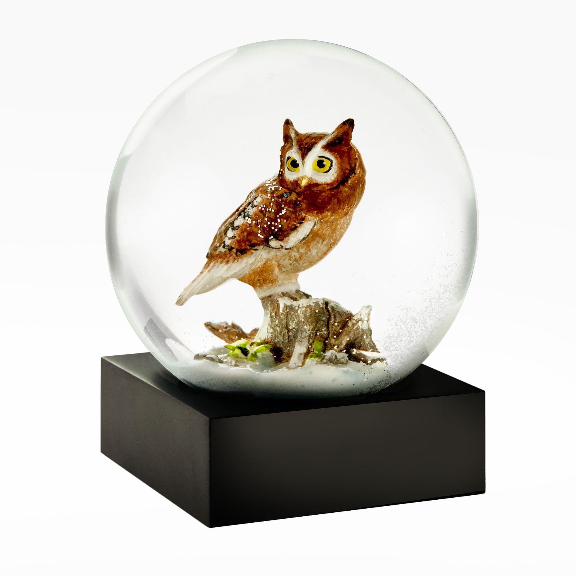 The lovable new Owl Snow Globe Snow globes, Globe, Snow