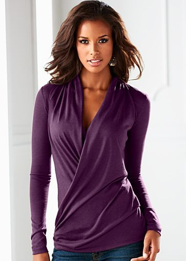 Draped surplice top from VENUS