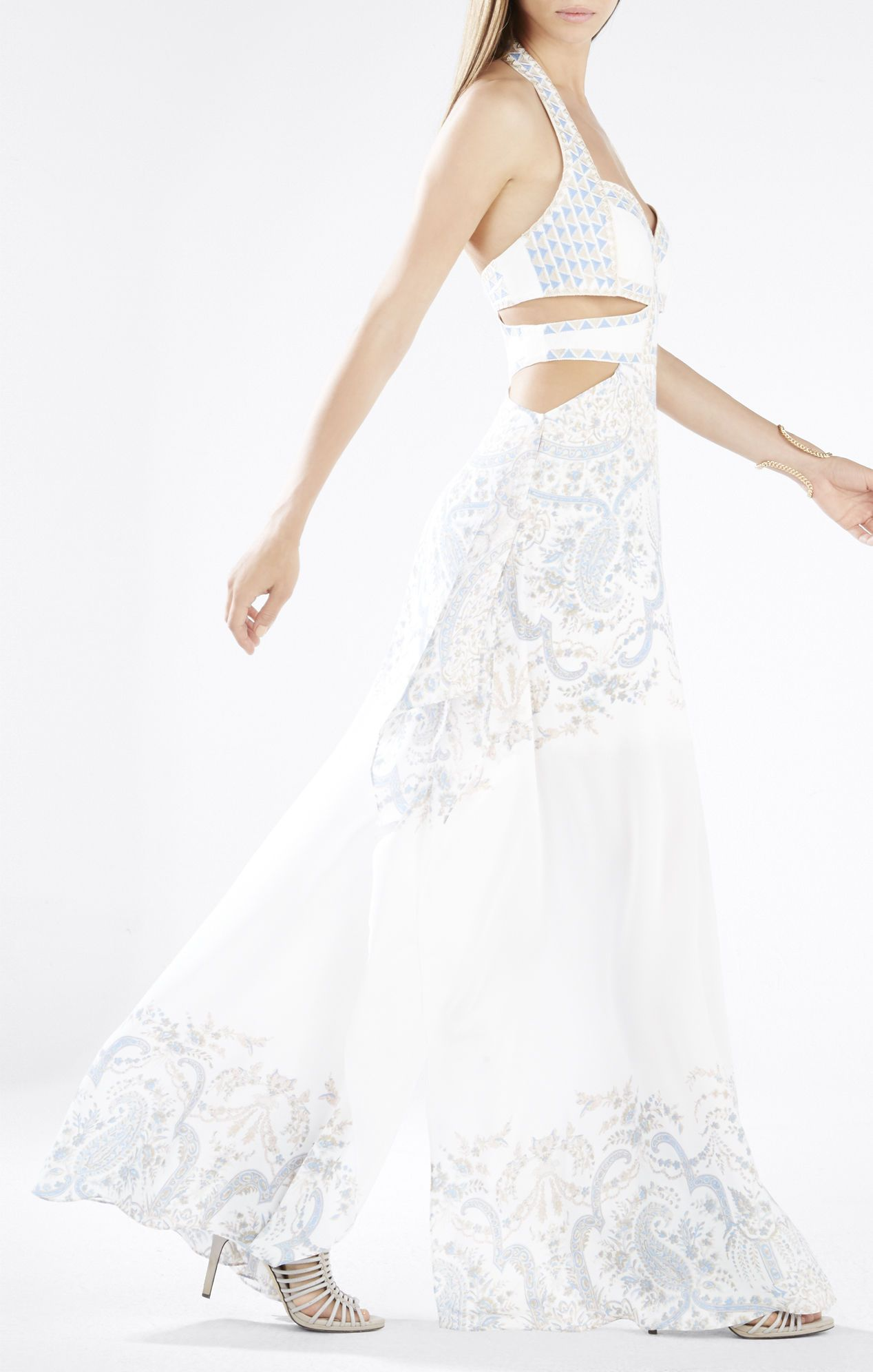Evelina cutout cascade dress fashion pinterest bohemian prom
