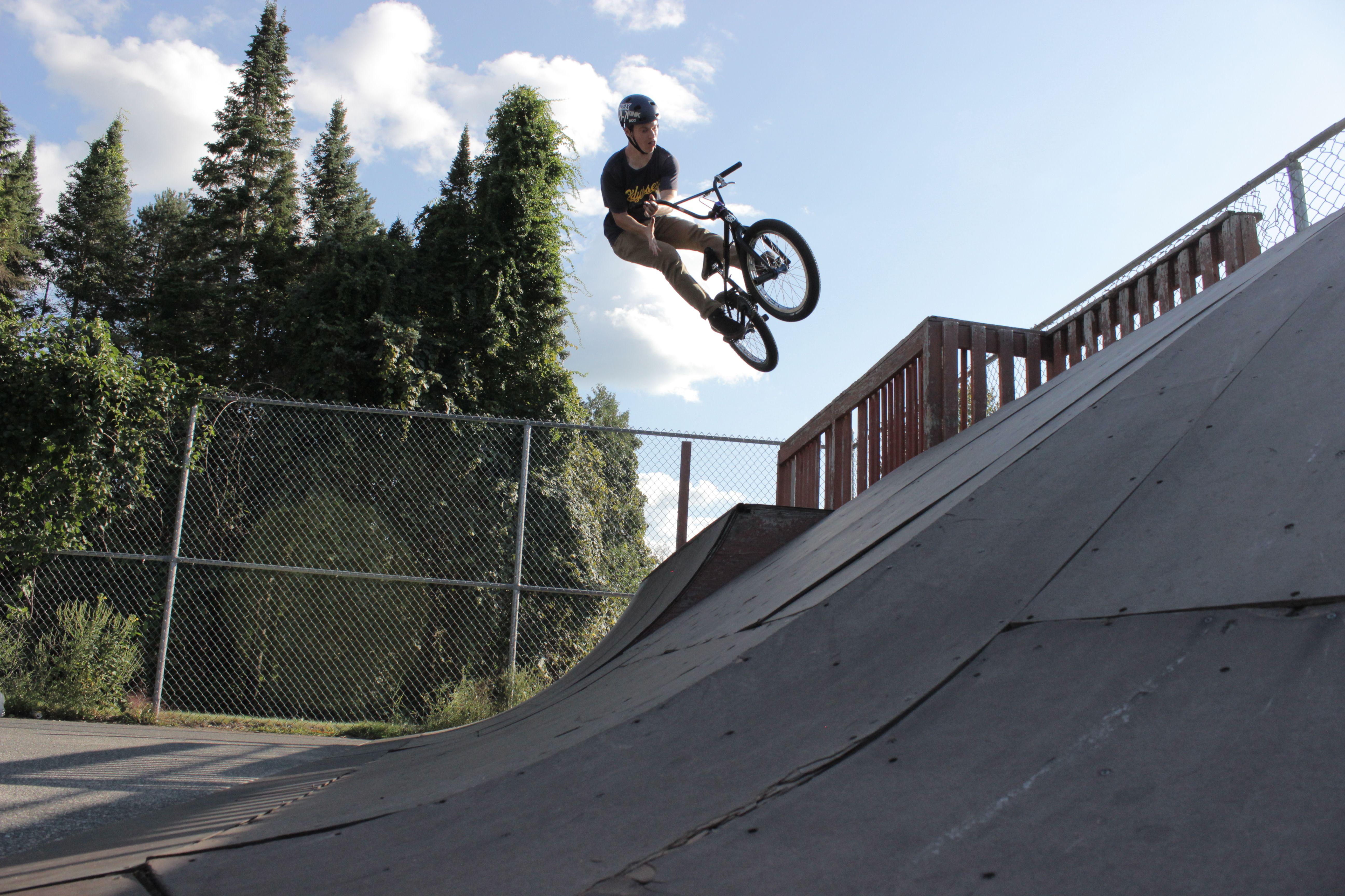 Neal Bachman Bar Air to Back Belchertown Skatepark