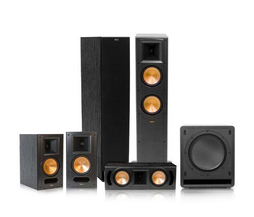 Klipsch RF-62 II Reference Series 5.1 Home Theater System (Black) by Klipsch. $2599.00. This bundle includes:(2) Klipsch RF-62 II Reference Series Tower Speakers (Black)(1) Klipsch RC-62 II Reference Series Center Channel Speaker (Black)(1) Klipsch RB-61 II Reference Series Bookshelf Speaker - pair(Black)(1) Klipsch SW-110 Subwoofer (Black)Movies and music will sound just as they were intended to - no matter the room type or size - with the power, detail and emotion ...