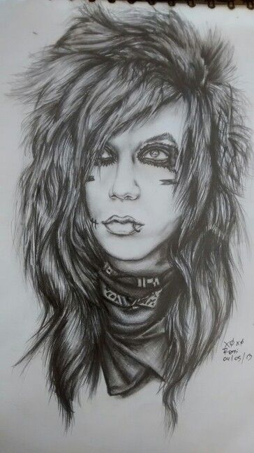 Andy Biersack Drawing This Is Amazing Black Veil Brides Andy Black Veil Brides Black Viel Brides