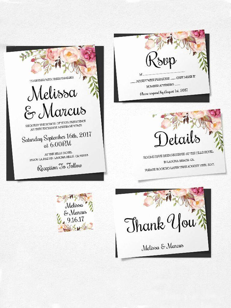 Free Wedding Invitation Templates Download Luxury 16 Print Wedding Invitation Inserts Wedding Invitations Printable Templates Diy Wedding Invitations Templates