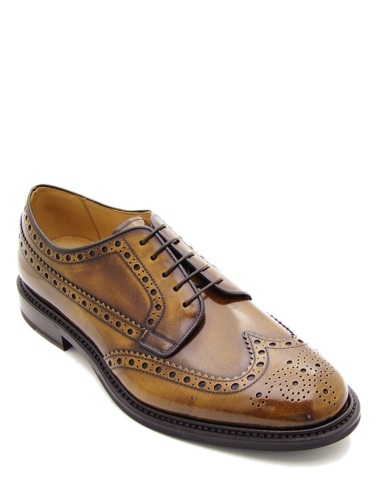 Scarpa da uomo, stringata di colore marrone, realizzata in
