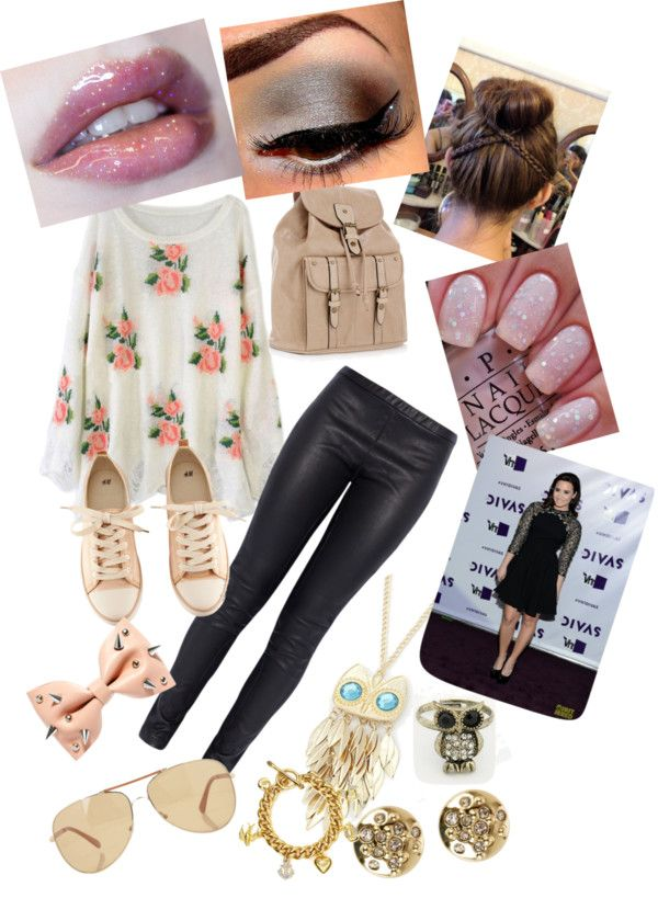 """day out with Demi "" by melanie22011 ❤ liked on Polyvore"
