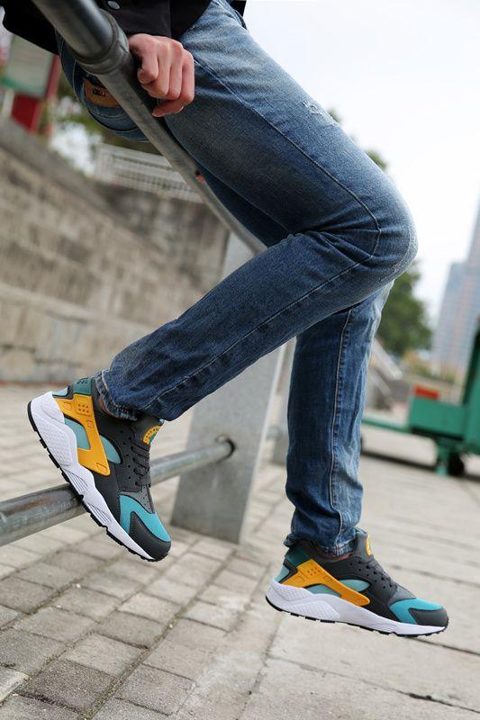 innovative design 458a0 998c9  esty  runs Nike Air Huarache Catalina Hyper Jade Gold On Feet