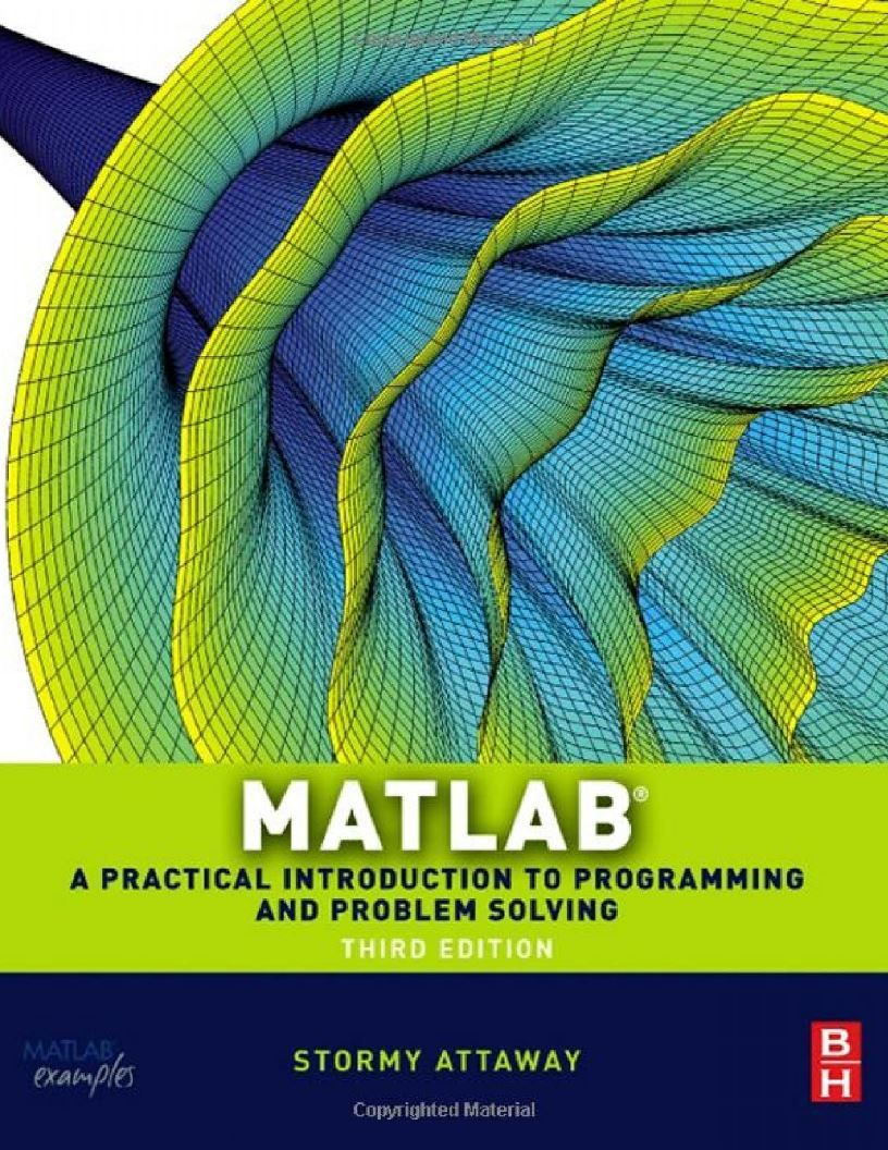 Matlab Third Edition A Practical Introduction To