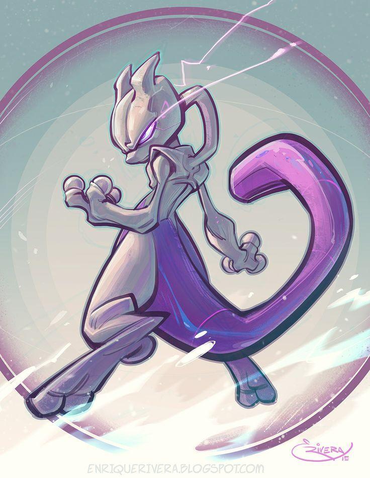 Mewtwo Enrique Rivera Em 2020 Pokemon Mewtwo Mew E Mewtwo