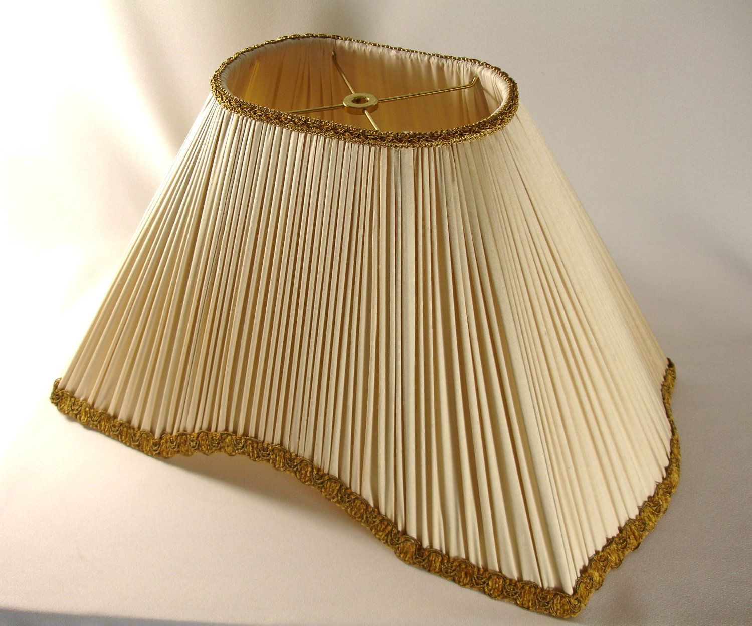 lamp spider fitter shade shades pleated silk softback faux lampshade inch colors mushroom products urbanest