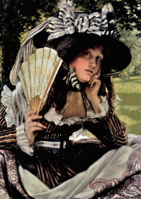 James Jacques Joseph Tissot (French artist, 1836–1902) Young Woman with Fan