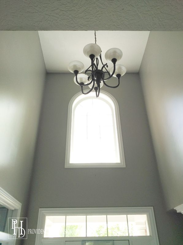 Paint Ideas For Foyer the secret to painting a 2 story wall | foyers, house and paint ideas