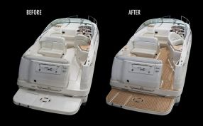 Before After Sea Ray Boat Boat Flooring Ideas Deck Boat