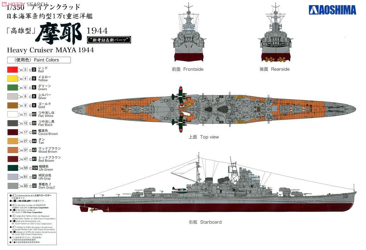painting the japanese ship Maya - Google Search