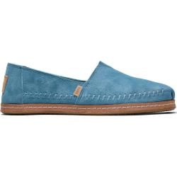 Photo of Toms Shoes Blue Suede Leather Wrap Espadrilles For Women – Size 39 TomsToms