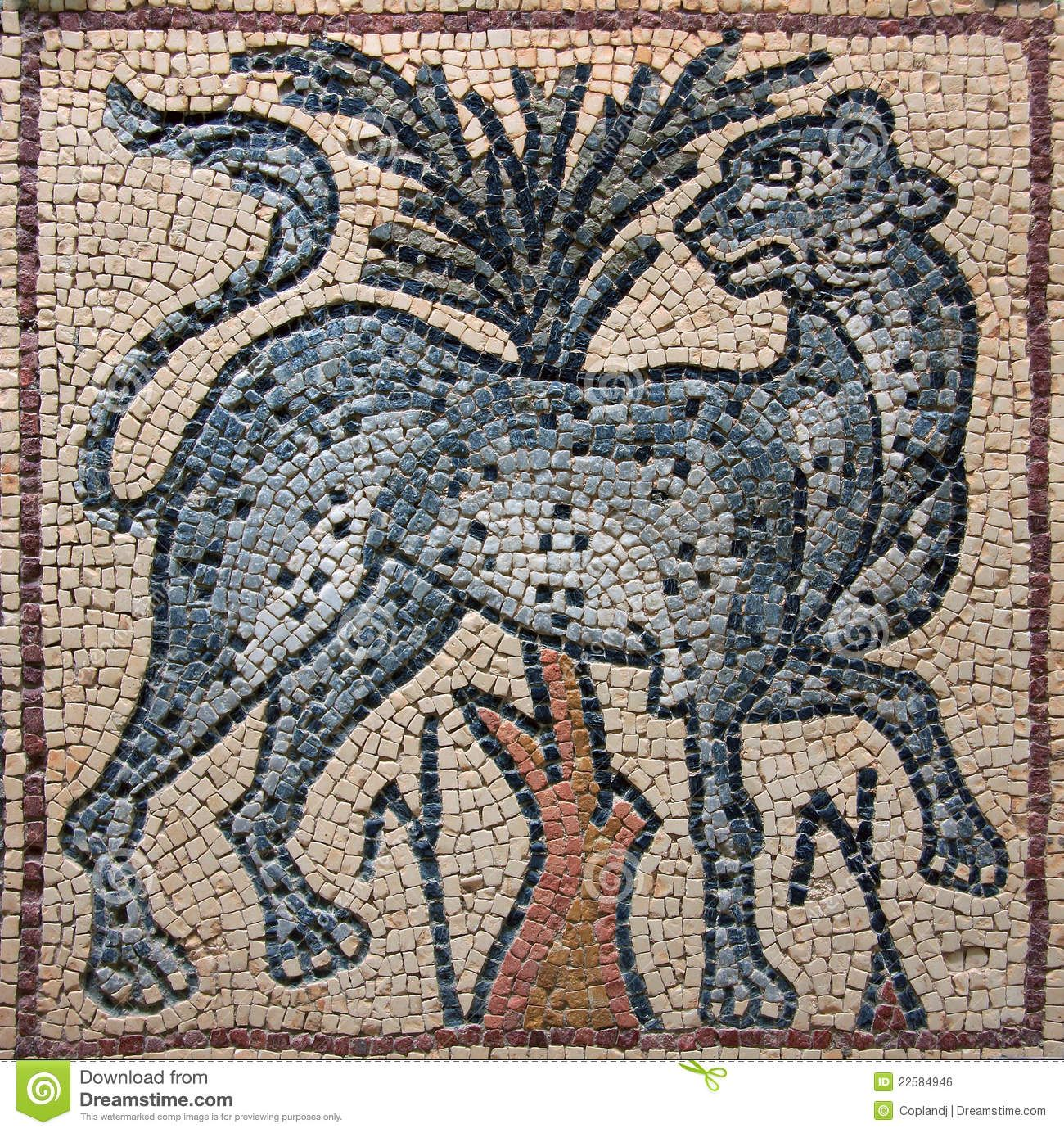 Libya Cyrenaica Byzantine Mosaic Leopard - Download From Over 46 Million High Quality Stock Photos, Images, Vectors. Sign up for FREE today. Image: 22584946