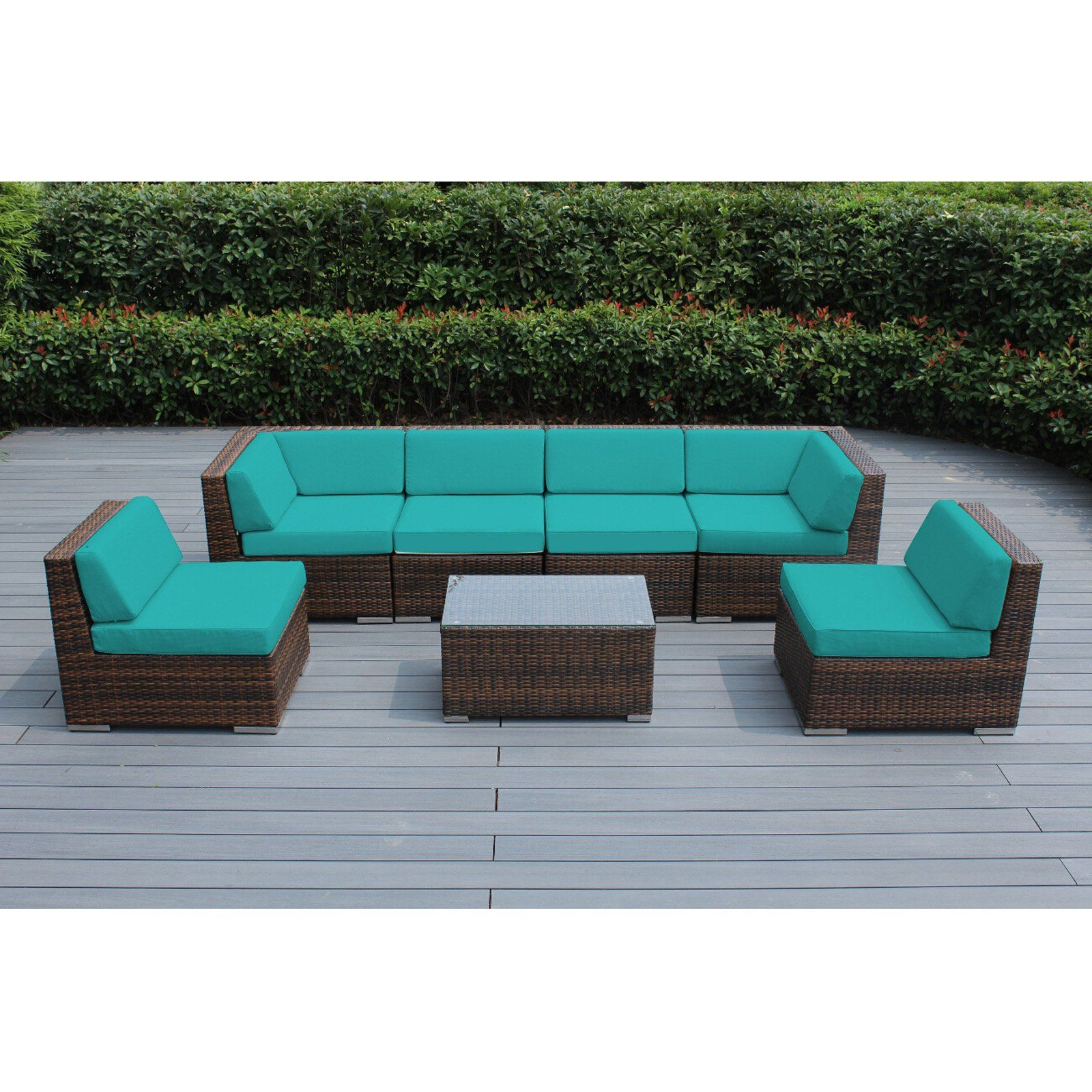 Best Outdoor Ohana All Weather Wicker 7 Piece Sectional Patio 640 x 480
