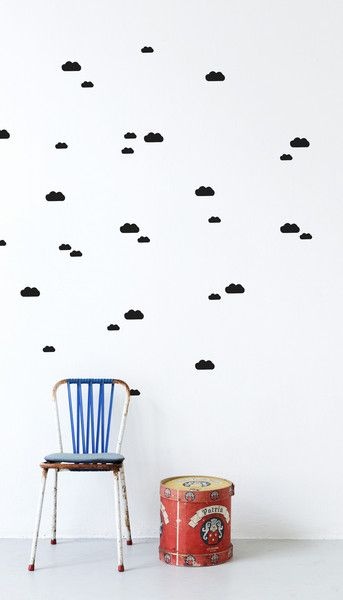 ferm living wall stickers | at darling clementine | little.bedroom