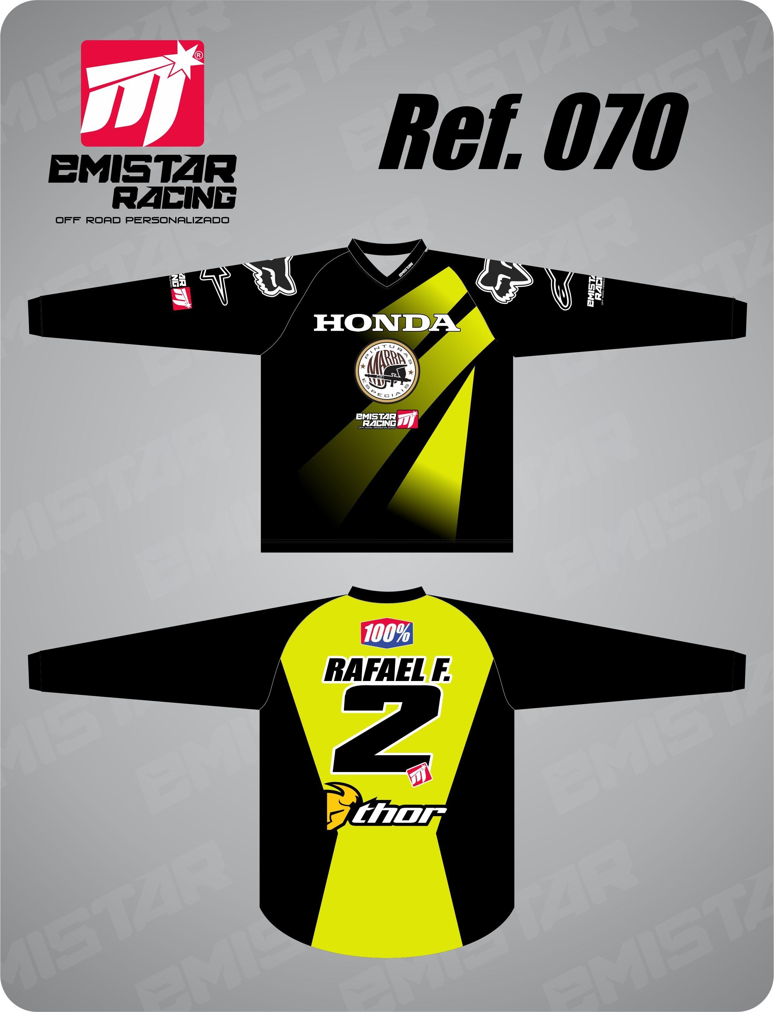 d97d55bdde Camisa personalizada com nome e numeral.. Moto Enduro