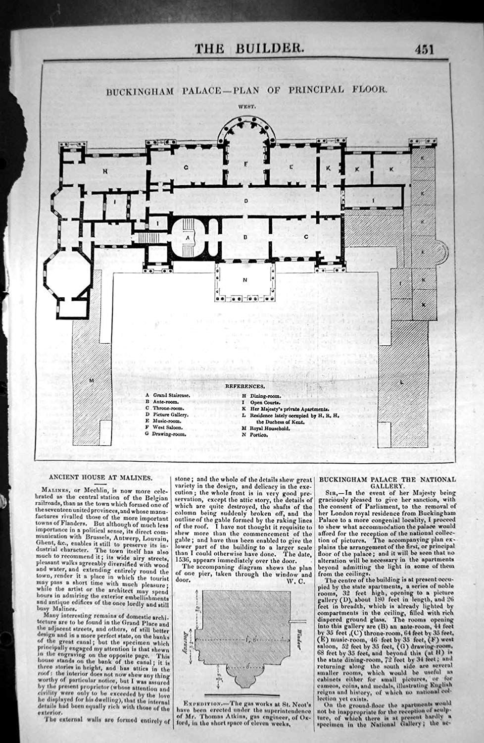 Buckingham Palace Plan Of Principal Floor Buckingham Palace Floor Plan Buckingham Palace Buckingham House