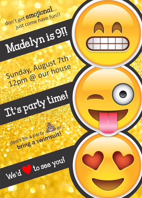 Emoji Printable Birthday Invitations Page Four